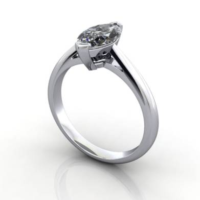 Marquise Engagement Ring, Platinum, RS5, 3D, Thumbnail