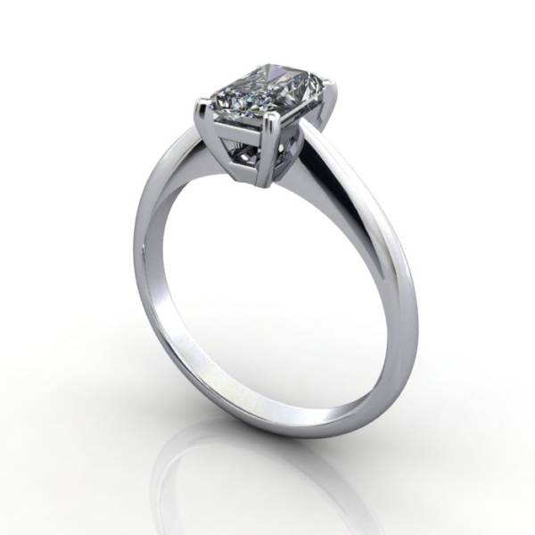 Radiant Engagement Ring, Platinum, RS6 3D Thumbnail