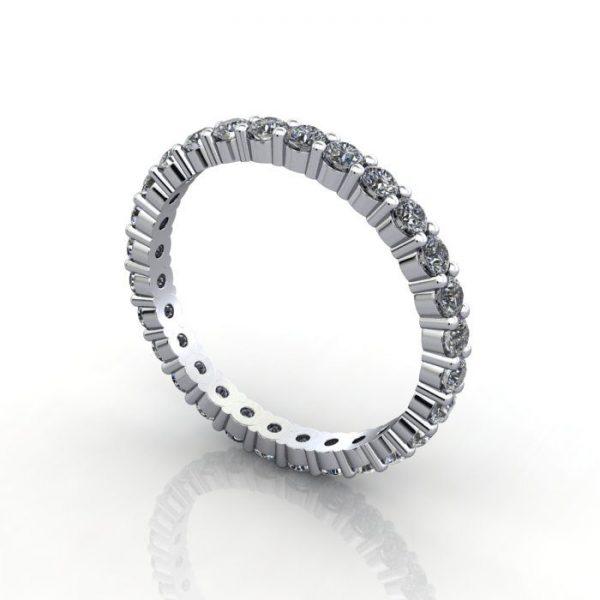 Eternity Ring White Gold 3D 2mm