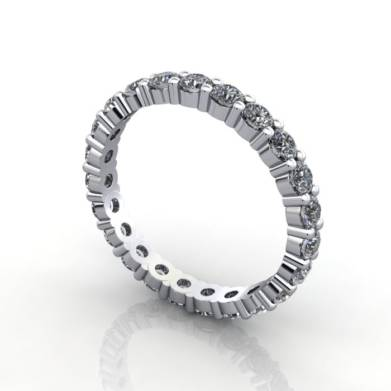 Eternity Ring white gold 1.50ct 3D