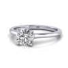 Engagement Ring RS1 Round Platinum LF