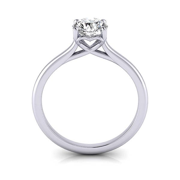 Engagement Ring RS1 Round Platinum TF