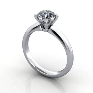 Engagement Ring, RS9, Platinum, 3D Thumbnail