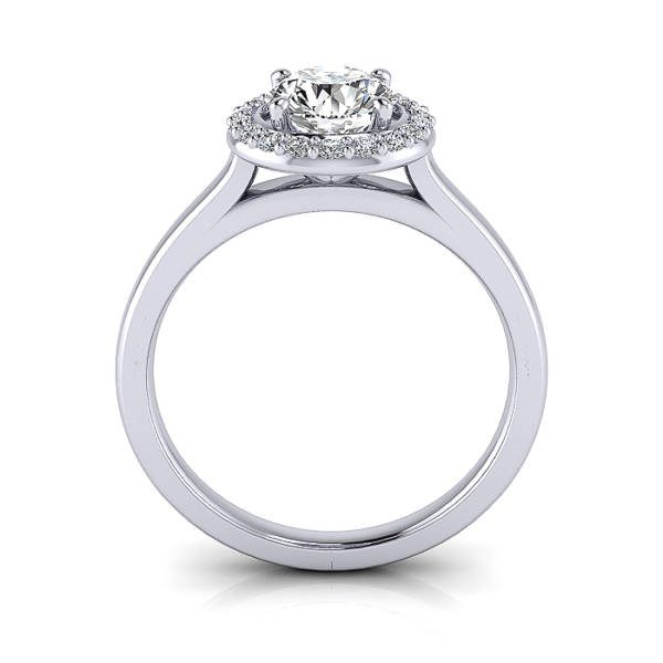 Halo Ring, Round, Platinum, RH1, TF