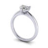 Video Heart Shape Engagement Ring, RS7, White Gold, 3D