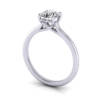 Video, Round diamond ring, Platinum or white gold, RS1
