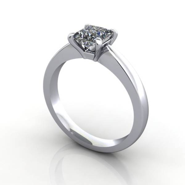 Engagement Ring, RS11, Platinum, 3D Thumbnail
