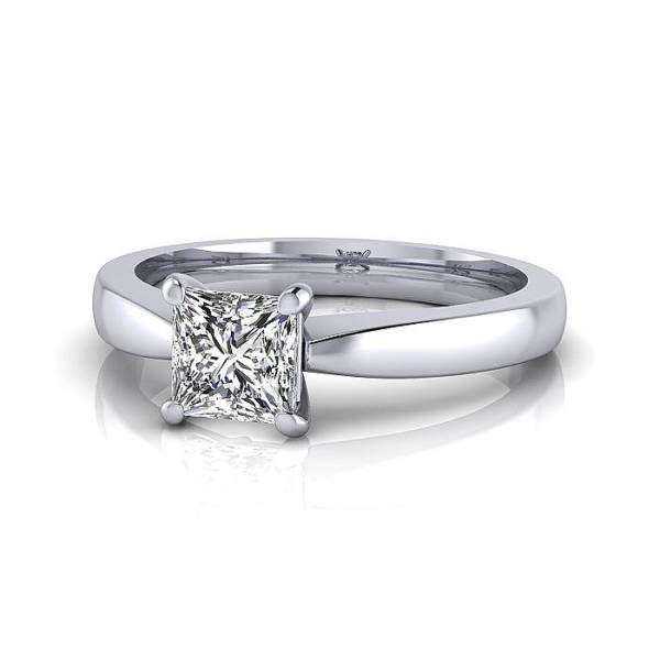 Engagement Ring, RS11, White Gold, LF