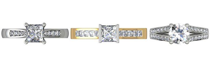 Princess Cut Engagement Ring Styles