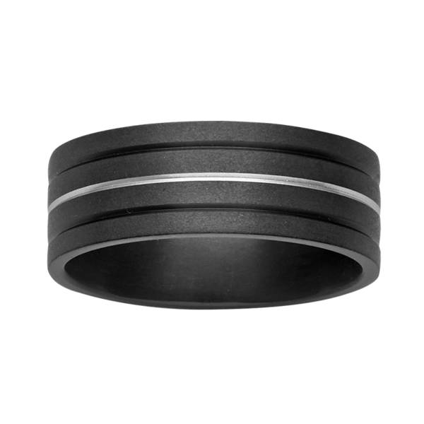 Black Zirconium Wedding Ring PD656