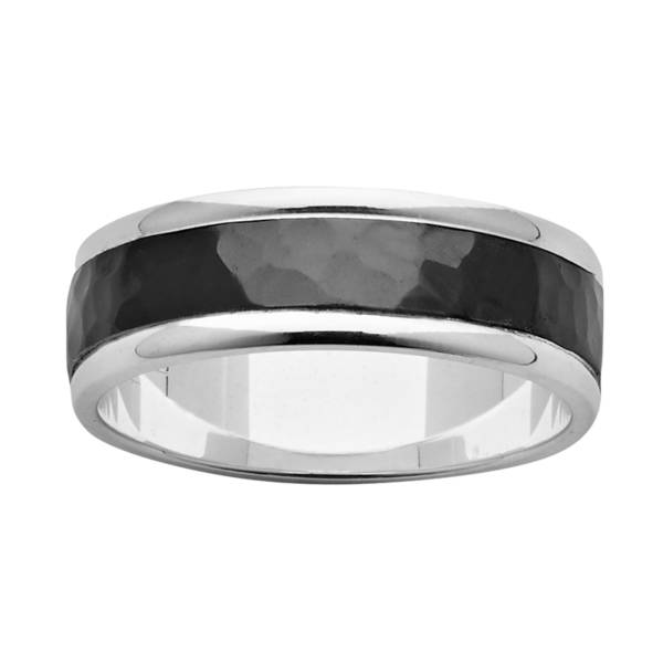 Black Zirconium Wedding Ring PDZ438