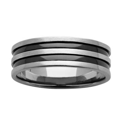 Black Zirconium Wedding Ring PDZ594