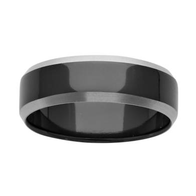 Black Zirconium Wedding Ring PDZ642