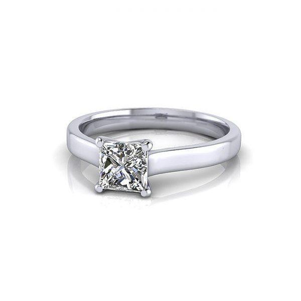 Engagement Ring, Princess Cut, RS12, Platinum, LF