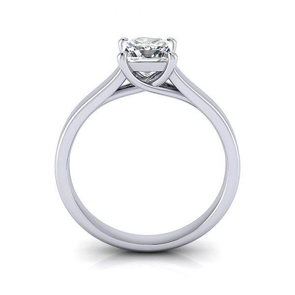 Engagement Ring, Princess Cut, RS12, Platinum, TF