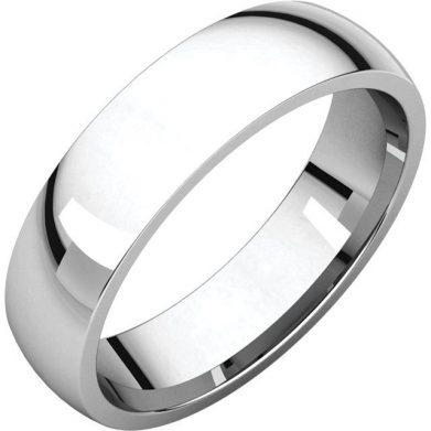 Gents Wedding Ring Platinum 5mm Ellipse 3D