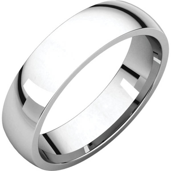 Gents Wedding Ring Platinum 5mm Ellipse 3D
