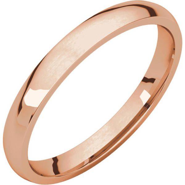 Gents Wedding Ring Rose Gold 2.5mm Ellipse 3D