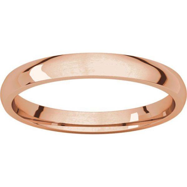 Gents Wedding Ring Rose Gold 2.5mm Ellipse LF