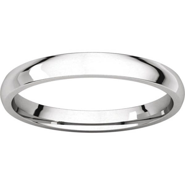 Gents Wedding Ring White Gold 5mm Ellipse LF