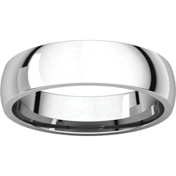 Gents Wedding Ring White Gold 5mm LF