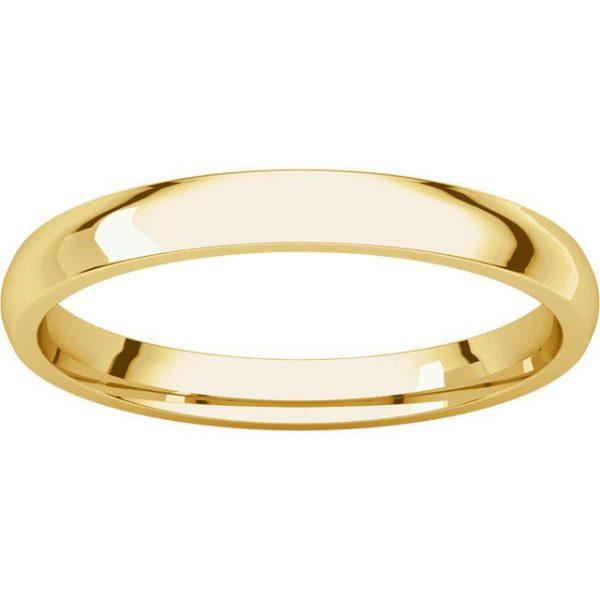Gents Wedding Ring Yellow Gold 2.5mm Ellipse LF
