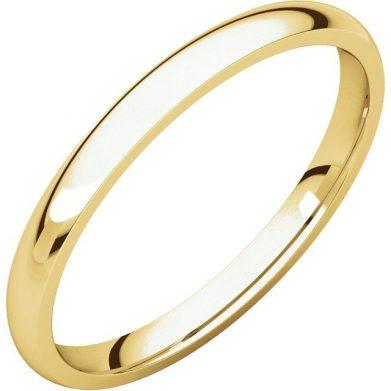 Gents Wedding Ring Yellow Gold 2mm Ellipse 3D