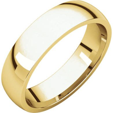 Gents Wedding Ring Yellow Gold 5mm Ellipse 3D