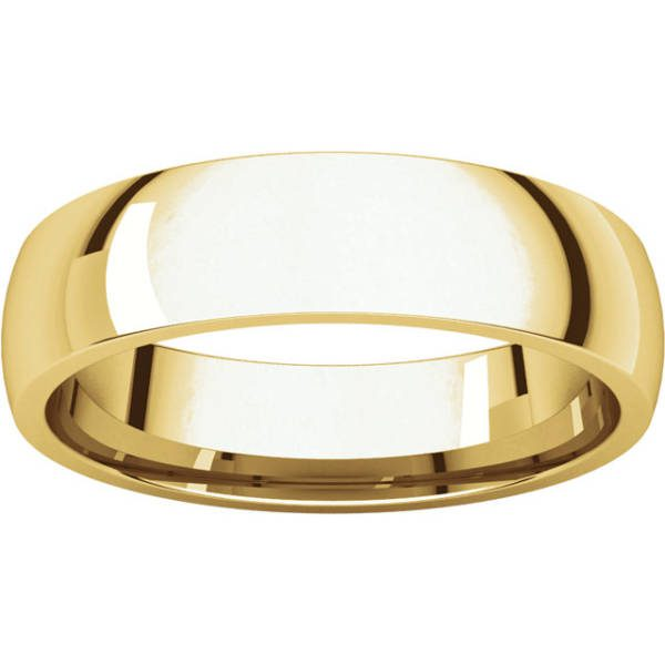 Gents Wedding Ring Yellow Gold 5mm Ellipse LF