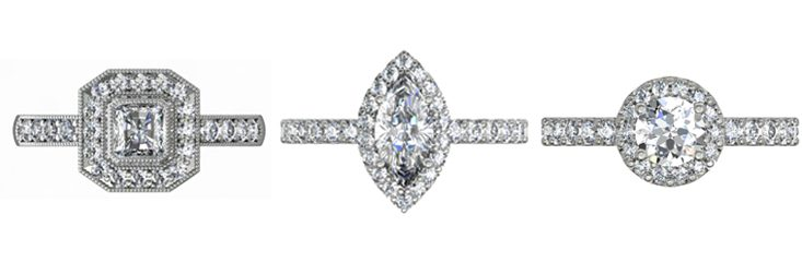 Engagement Rings with Accent Diamonds
