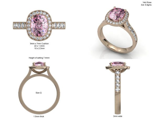 Morganite Ring Design 7