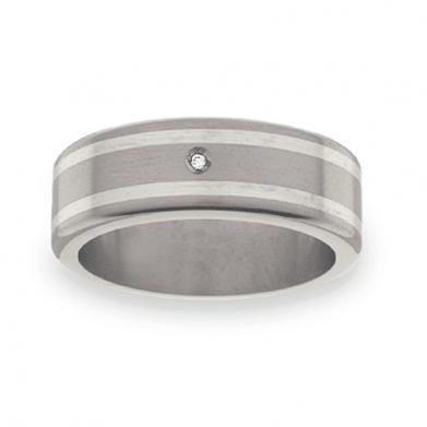 Titanium Wedding Ring PD467