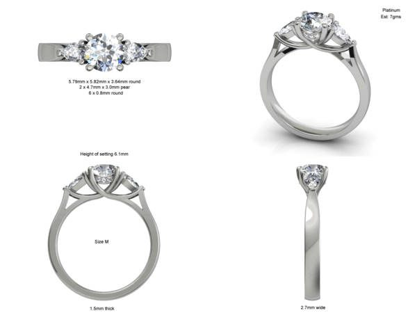 Trilogy Ring Style 8