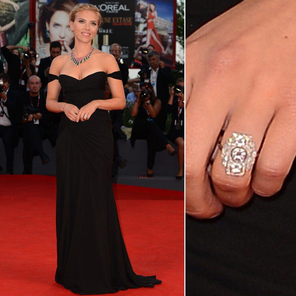 Wedding ring of Scarlett Johansson