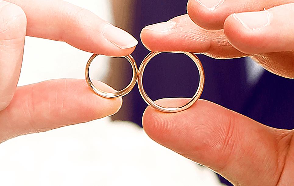 Wedding Rings - Polished Diamonds