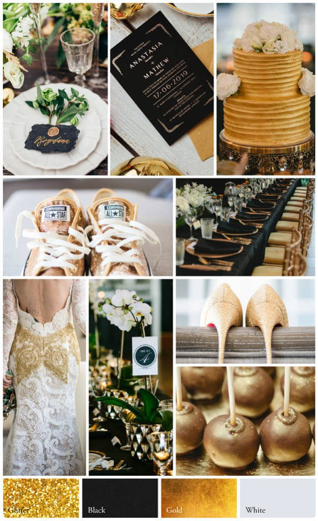 Gold Wedding Theme Decorations, colours and styles