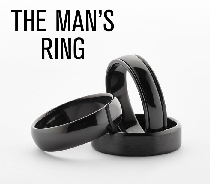 Zirconium Men Rings