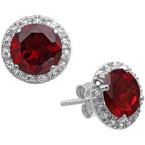 diamond halo earring