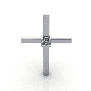 Diamond Cross Pendant with a Diamond