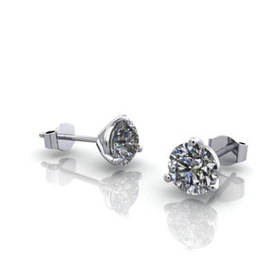 Martini Earrings Stud 5.5mm White Gold