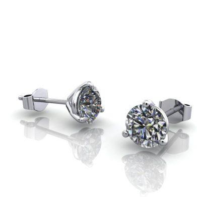 Martini Earrings Stud 6mm Platinum