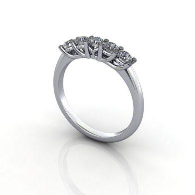 Anniversary Ring, RA1, Platinum, 3D
