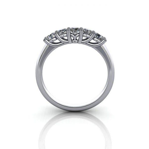 Anniversary Ring, RA1, White Gold, BE