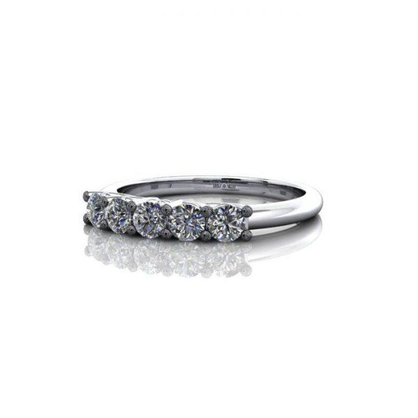 Anniversary Ring, RA1, White Gold, LF
