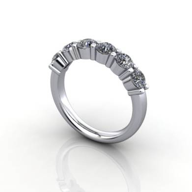 Anniversary Ring, RA2, White Gold, 3D