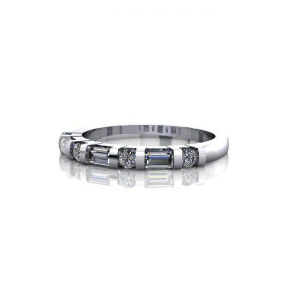 Anniversary Ring, RA3, White Gold, LF