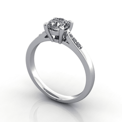 Diamond Ring, RSA17, Platinum, 3D Thumbnail