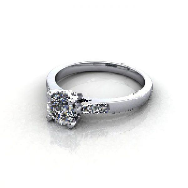 Diamond Ring, RSA17, White Gold, LF