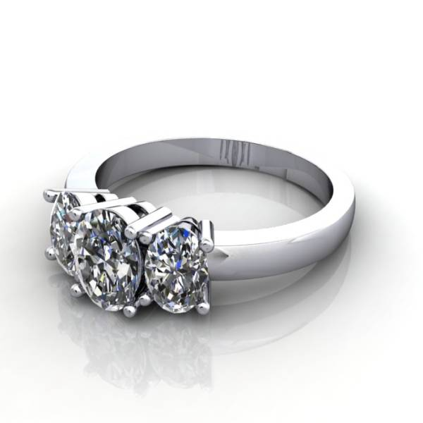 Multi stone Diamond Ring, PDM2, White Gold, LF
