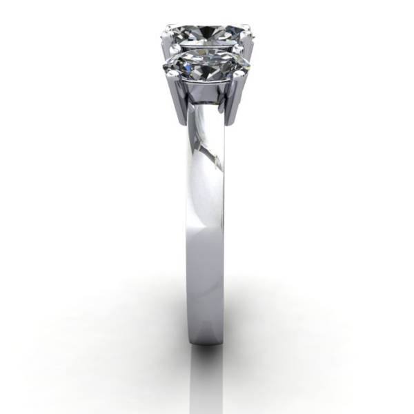 Multi stone Diamond Ring, PDM2, White Gold, SV